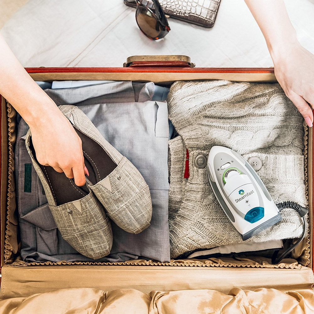 Steamfast SF-750 inside suitcase