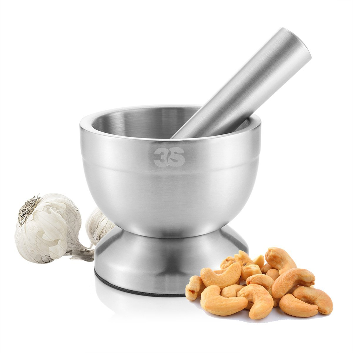 Steel Mortar and Pestle