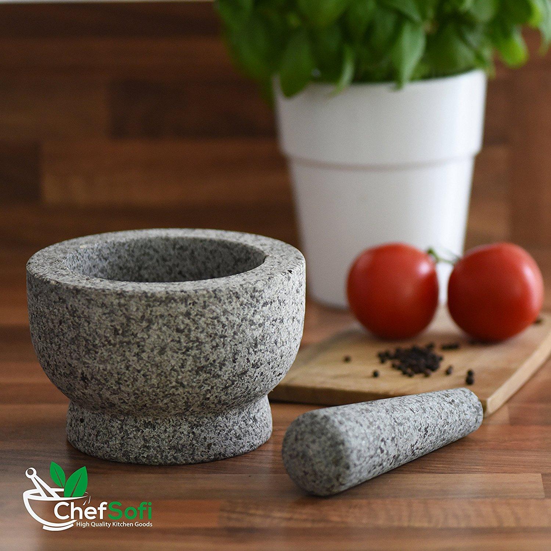 ChefSofi granite mortar and pestle