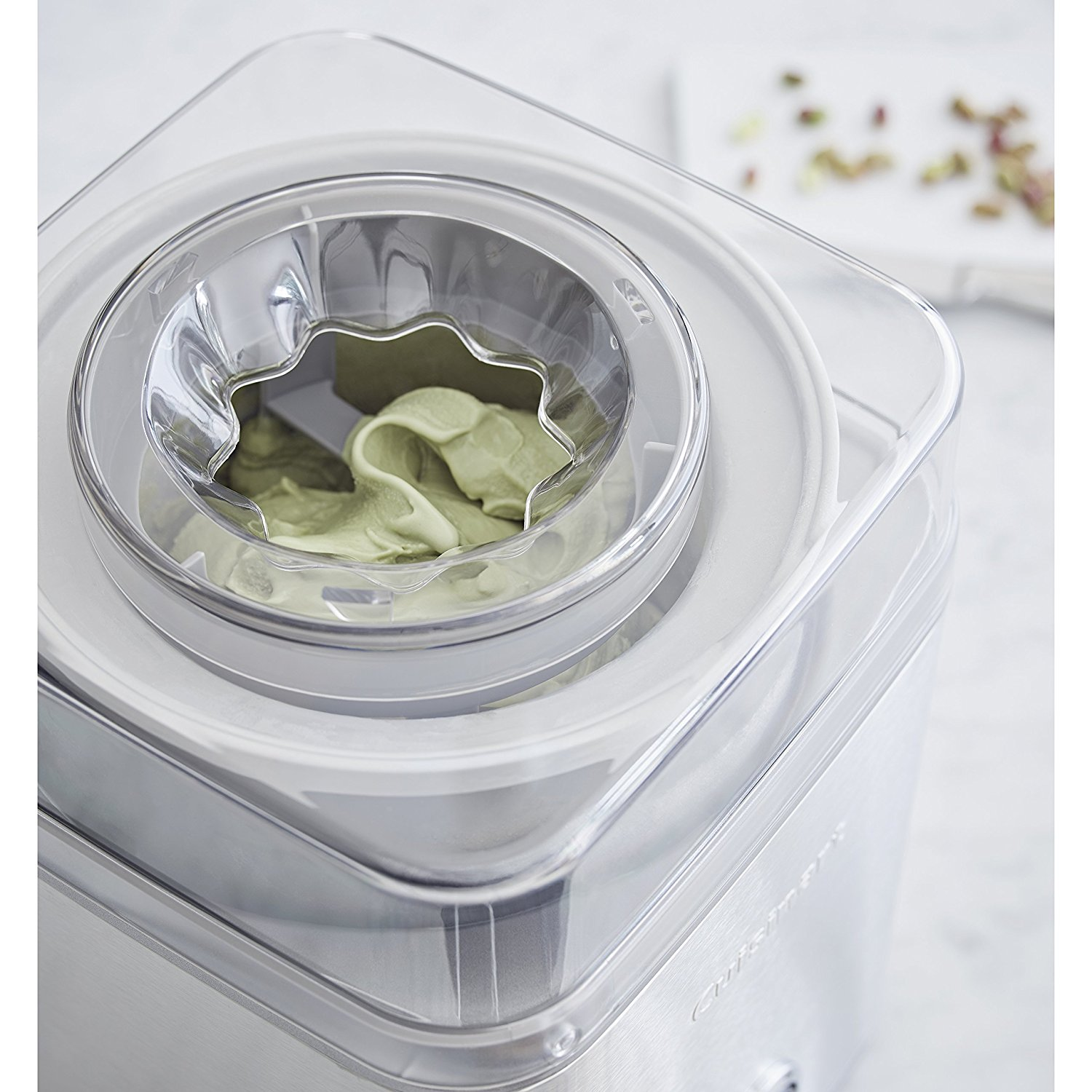 Image of Cuisinart ICE30B open lid from above