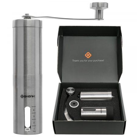 Shanik Premium Quality Stainless Steel Manual Coffee Grinder