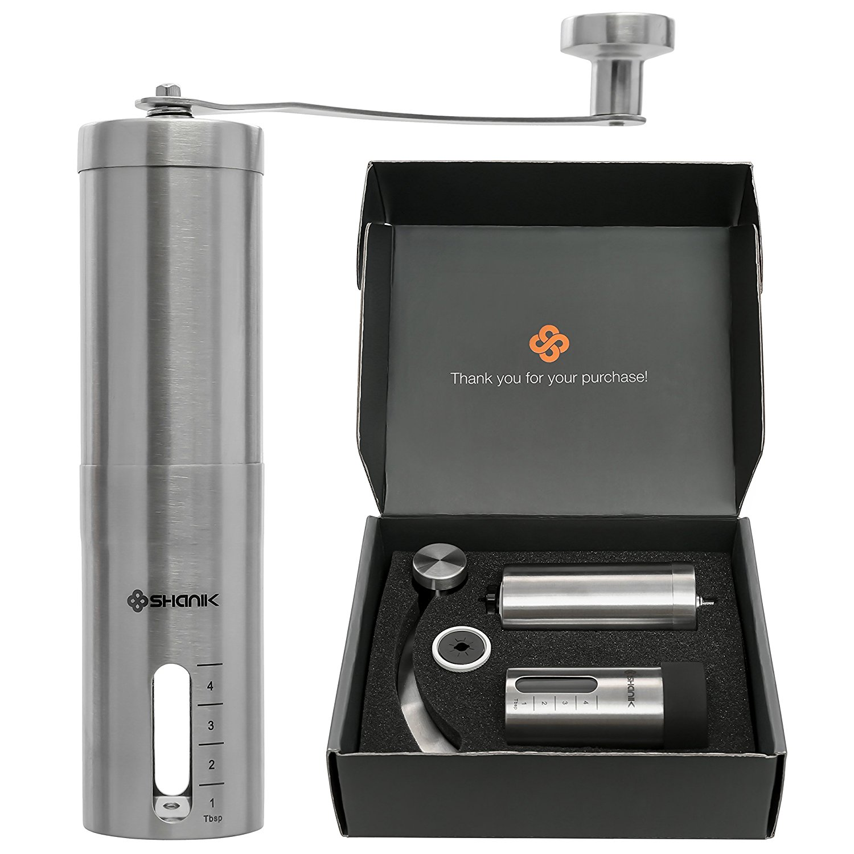 Shanik Premium Quality Stainless Steel Manual Coffee Grinder