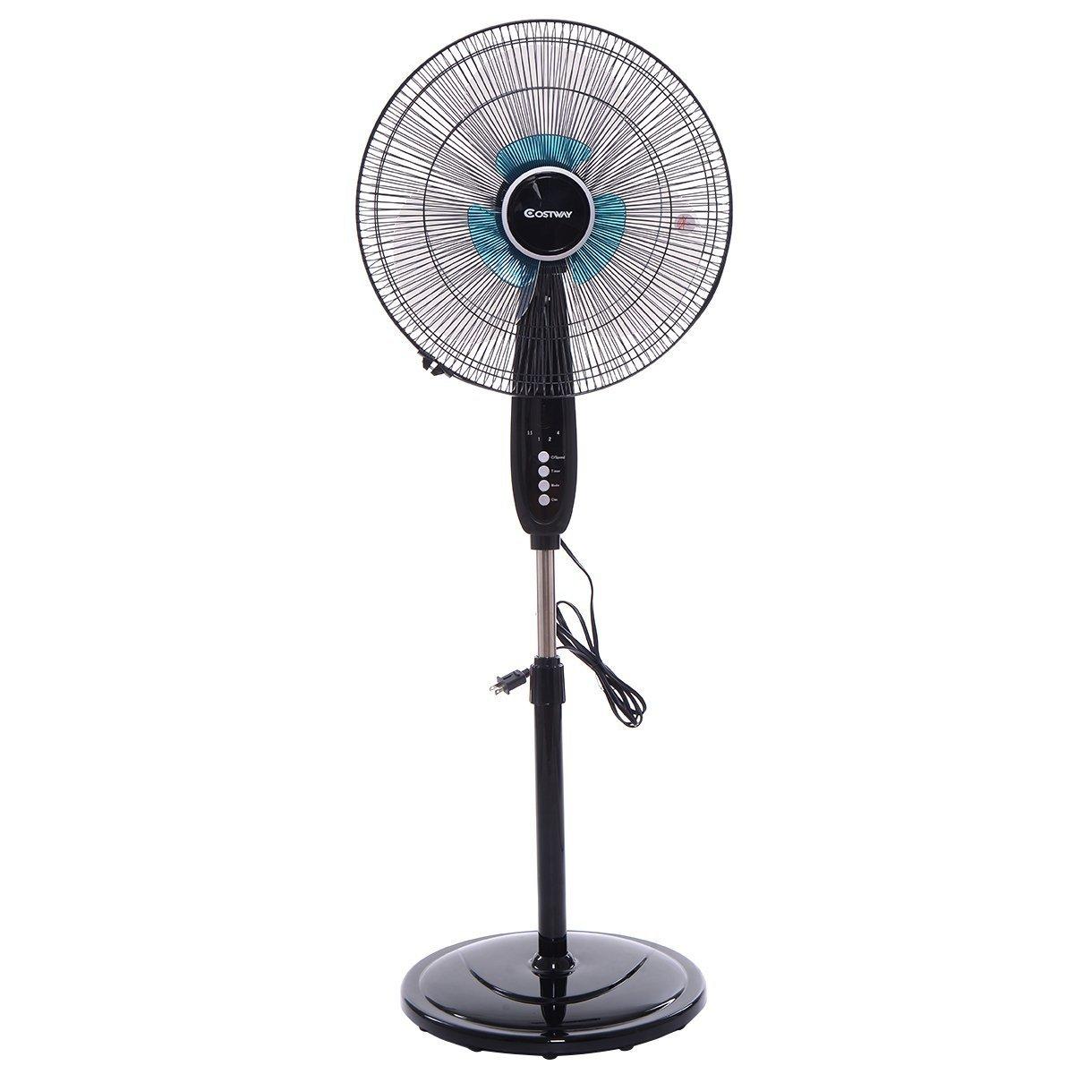 Costway Adjustable Pedestal Fan 3-Speed