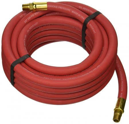 Image of coiled up Goodyear rubber air hose