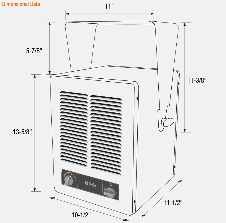 King KBP2406-3MP Electric Garage Heater
