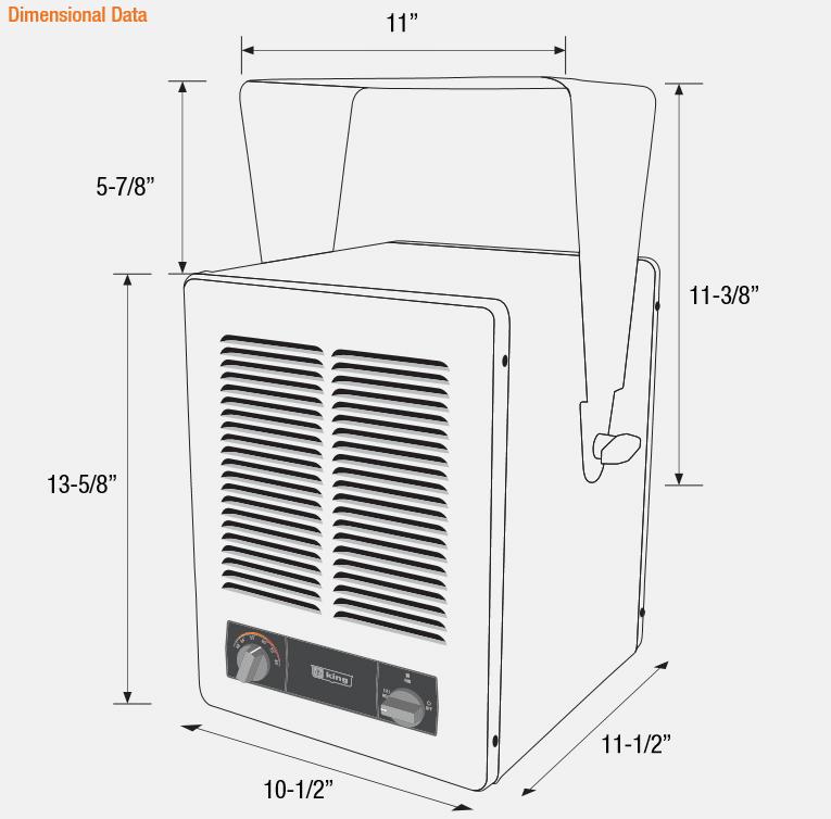King KBP2406-3MP Electric Garage Heater