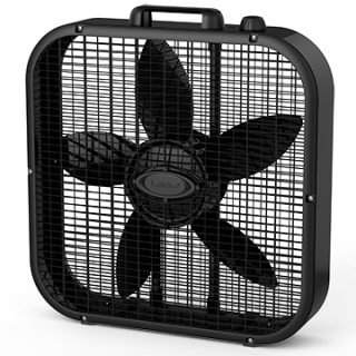 Image of black Lasko B20301 box fan