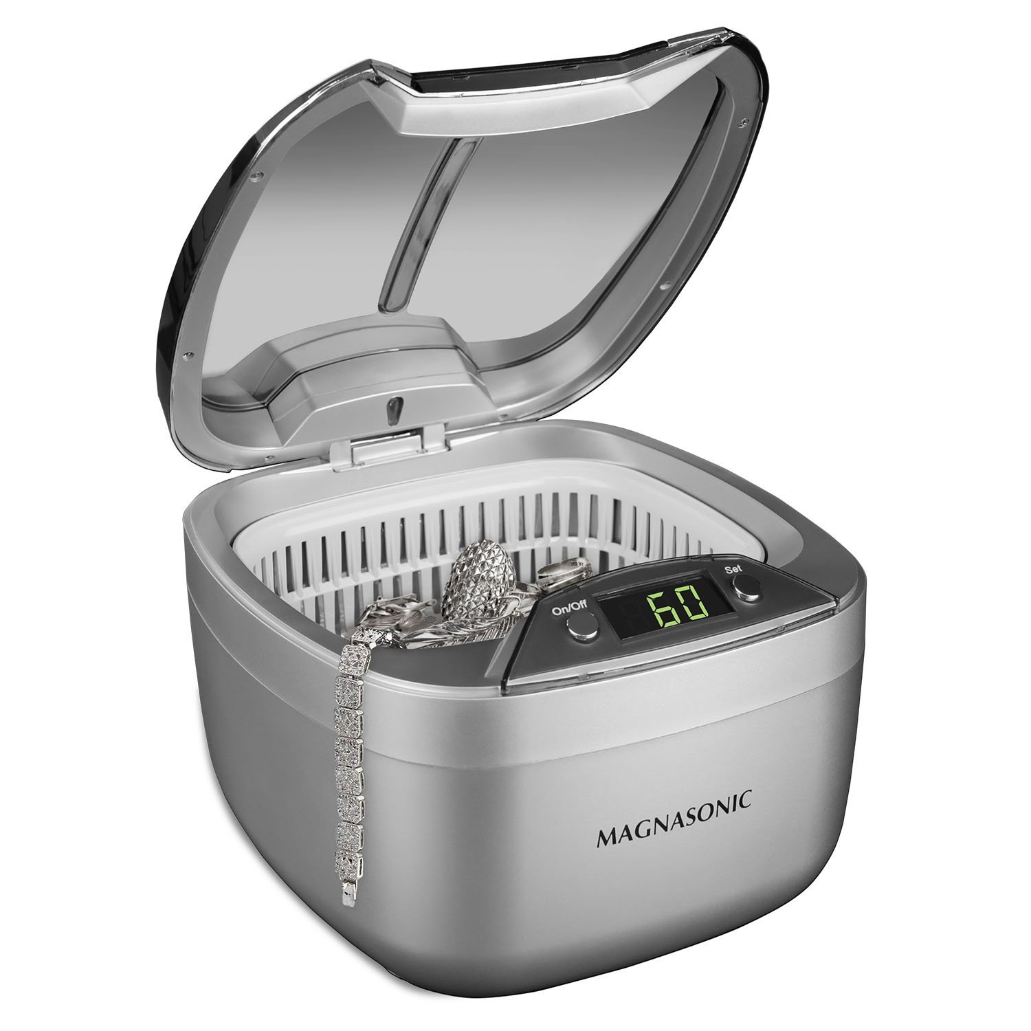 Magnasonic Professional Ultrasonic Jewelry Cleaner, Dual-Wave Heavy Duty