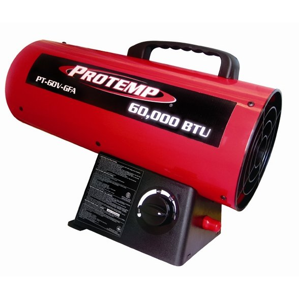 ProTemp 60000BTU Forced Air Propane Heater