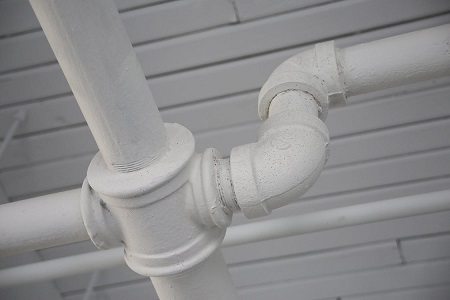 Outdoor water pipes.