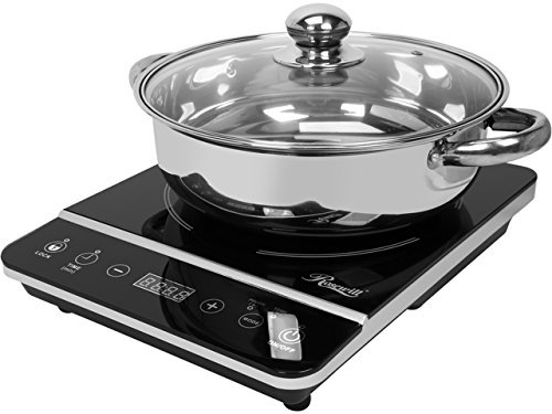 Rosewill Induction Cooktop with Stainless Steel Pot