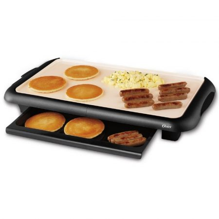 Oaster Griddle with food ready to be served