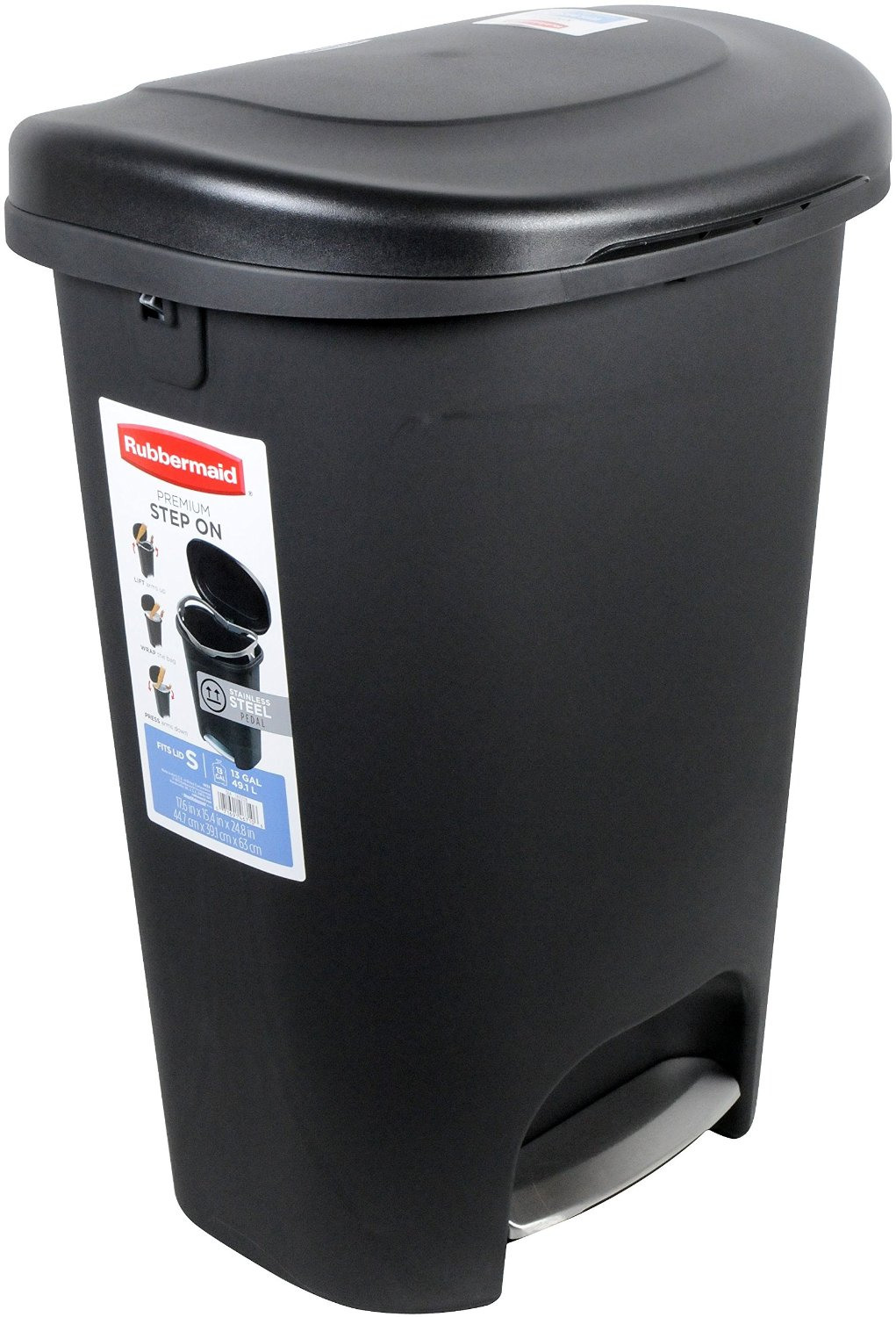 Rubbermaid Step-On Wastebasket Trash Can