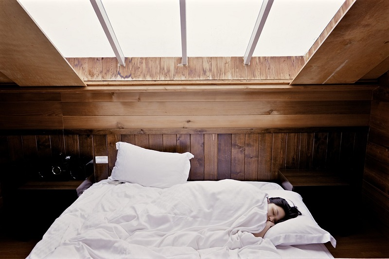 Girl Sleeping in Warm Room
