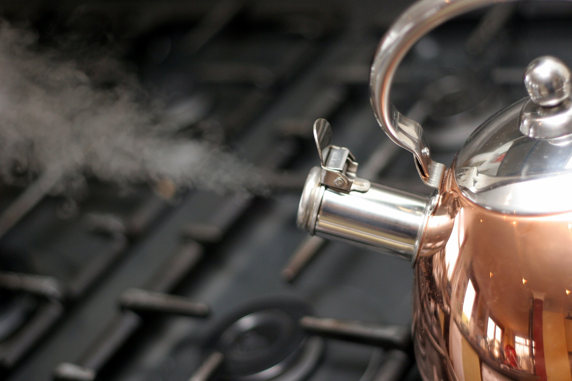 Picture of kettle boiling water