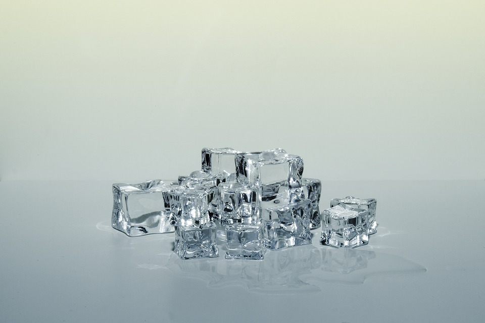 Example of really clear ice