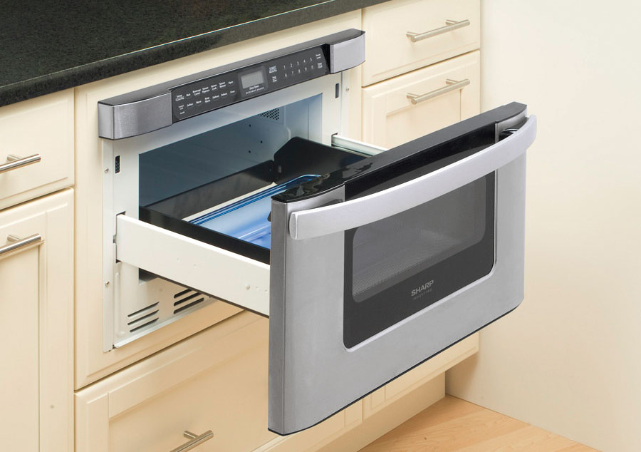SHARP KB-6524PS Drawer Microwave opened