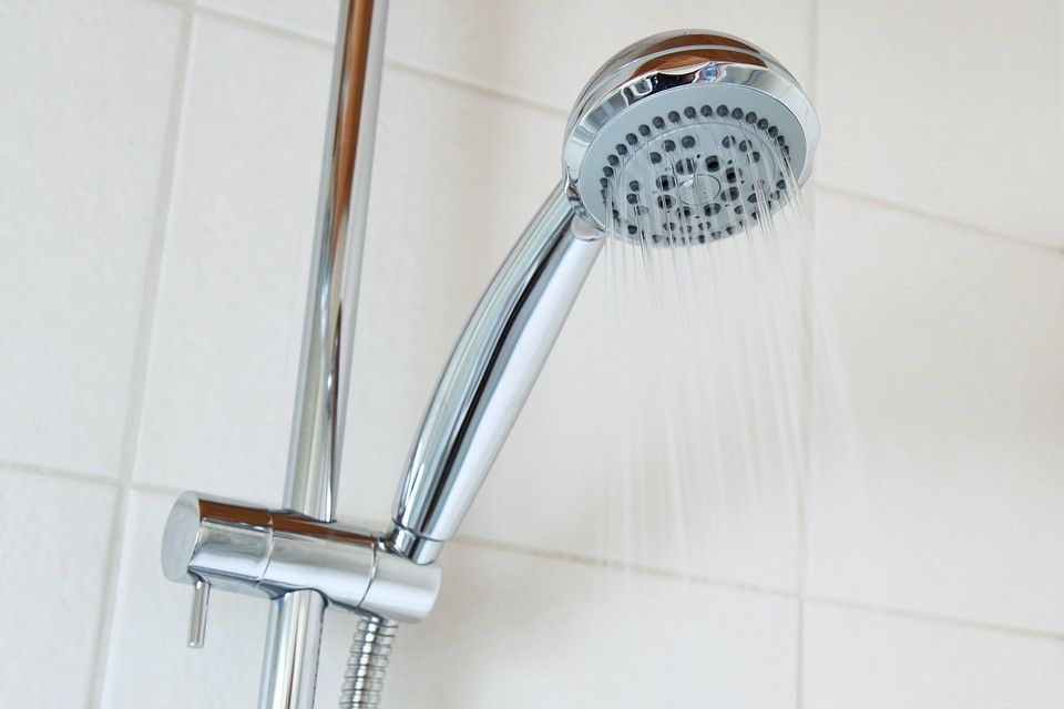 Shower head with water