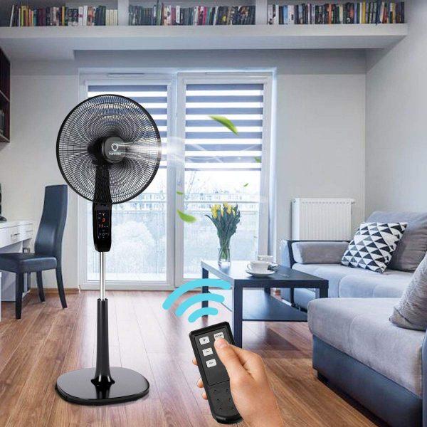 COSTWAY Pedestal Fan in Living Room