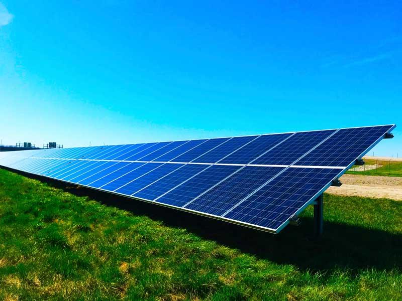 Solar Power Panels generating BTU