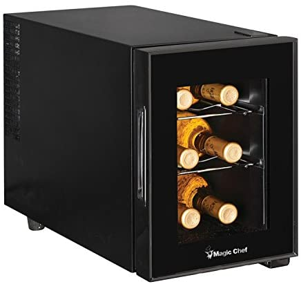 Magic Chef MCWC6B 6-Bottle Single-Zone Black Wine Cooler