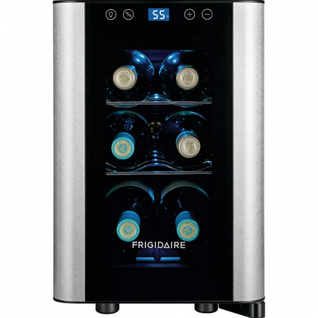 frigidaire 6-bottle wine cooler