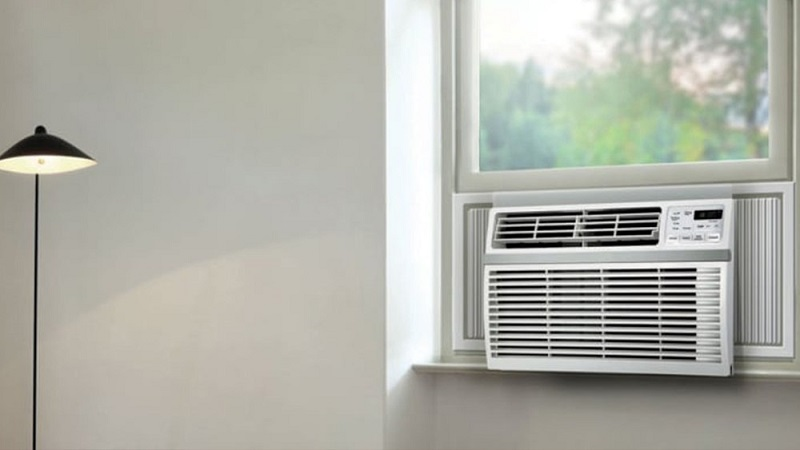 A window type air conditioner.