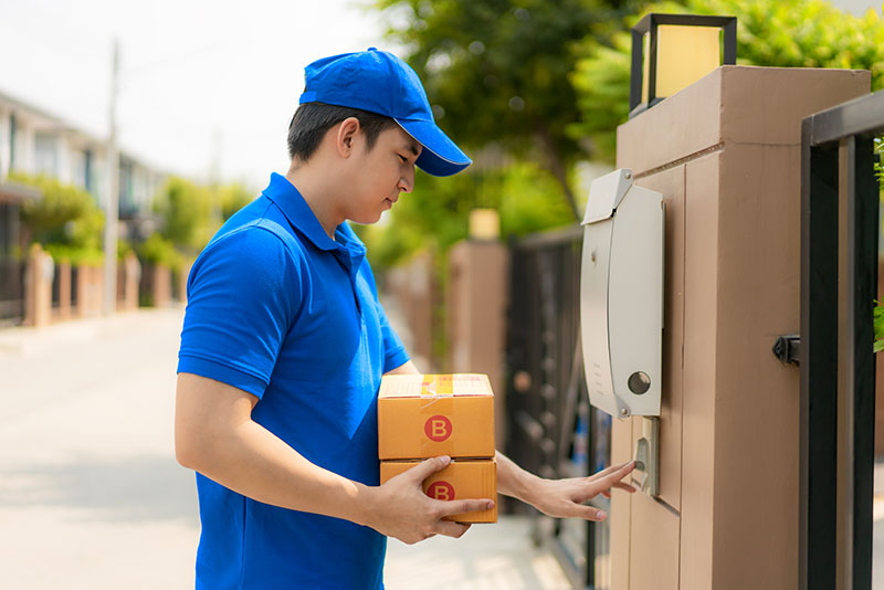 Delivery-using-doorbell