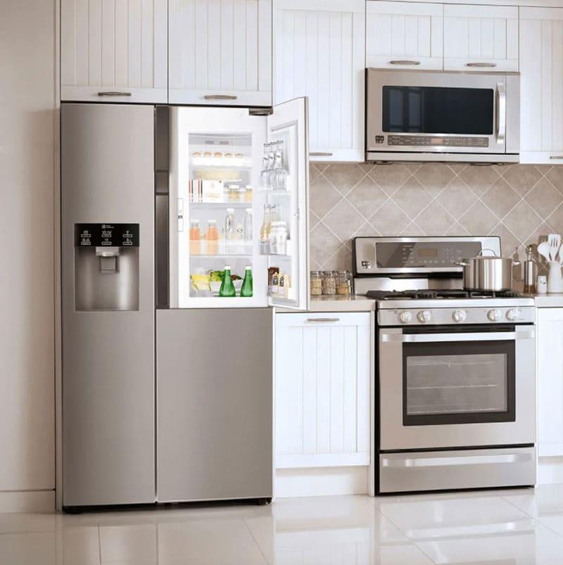 Microwave-&-Refrigerator