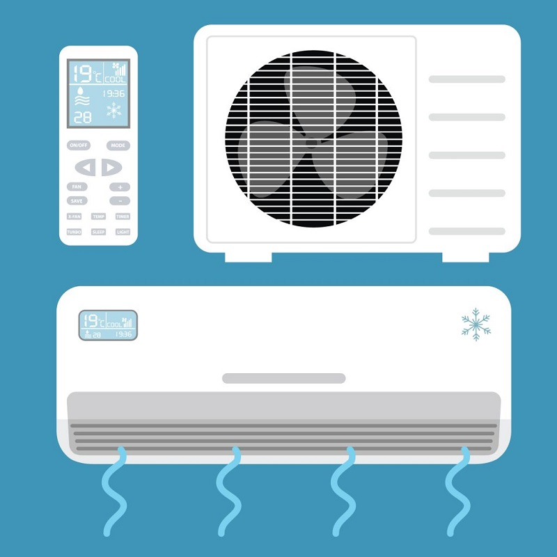 Noise in the air conditioner are signs of a problem.