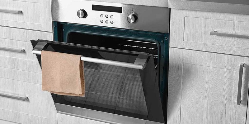 A shiny, elegant conventional oven.
