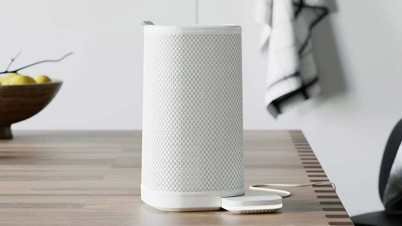 Air purifier on table