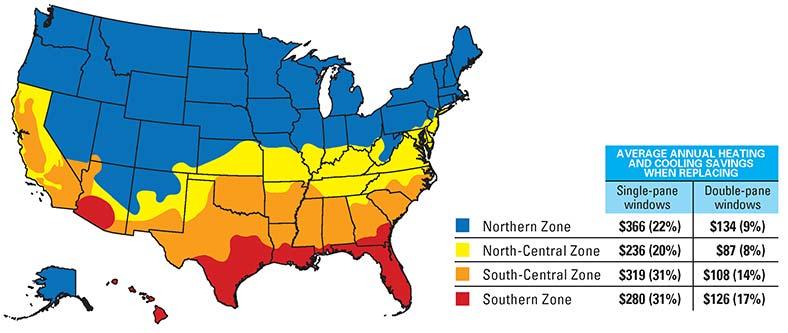 Energy star savings map