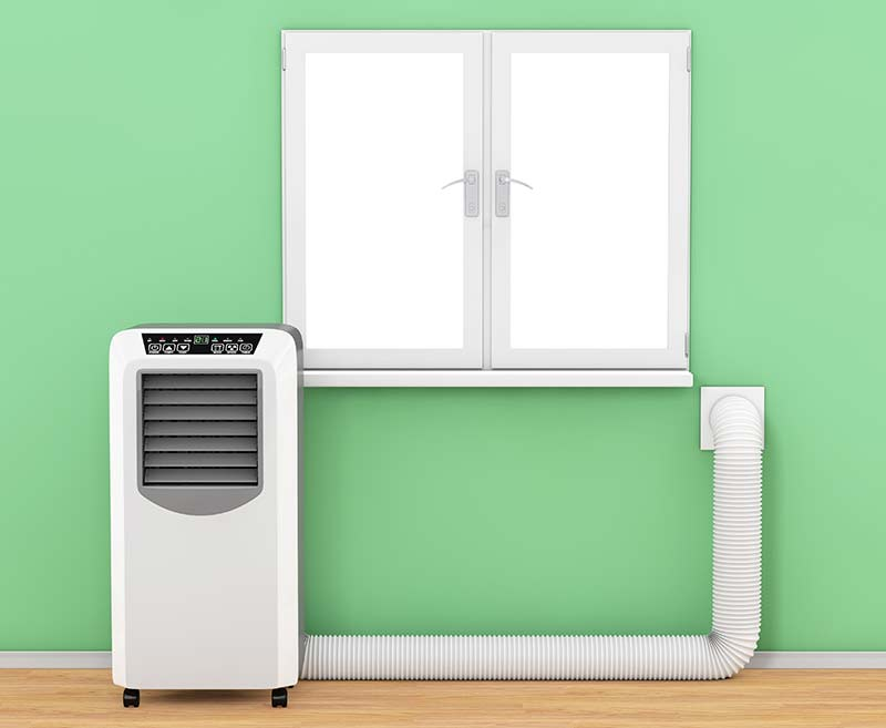 Portable-air-conditioner-using-a-vent