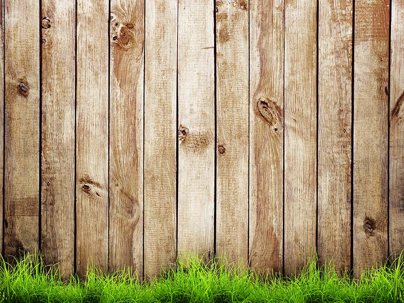 Thick wooden fence