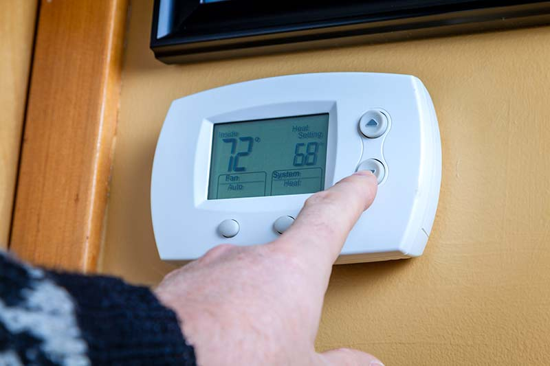 Changing the thermostat temperature