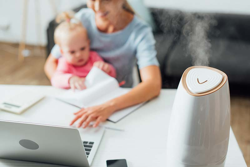 Humidifier in family home