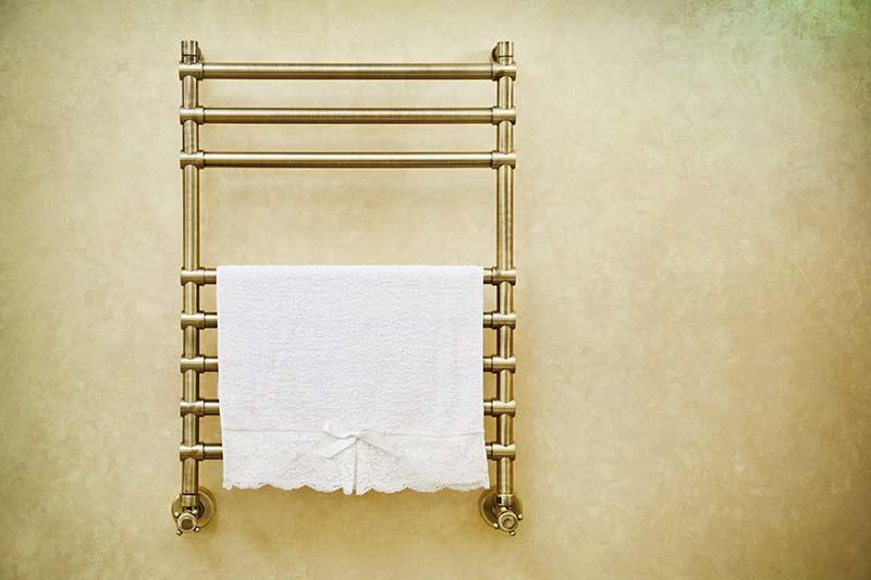 Towel on radiator