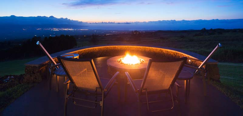 Fire pit looking out over amazing views