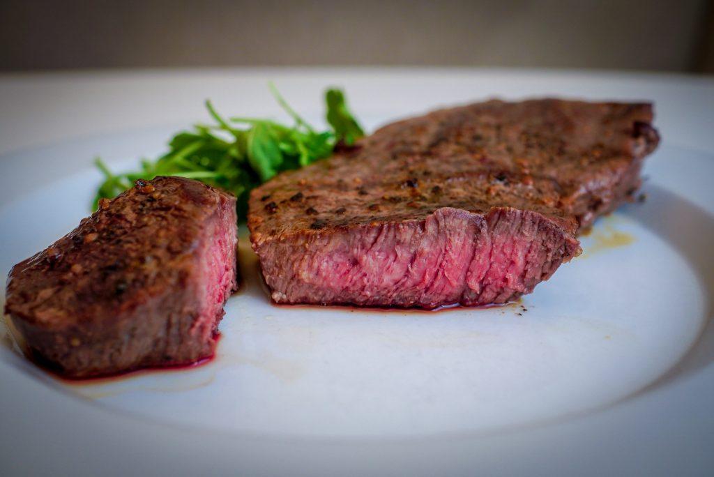 Steak after sous-vide