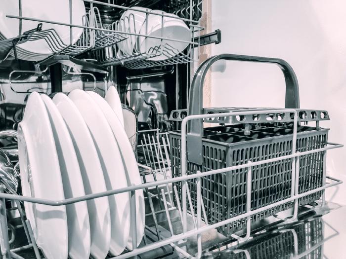 Dishwasher full of plates