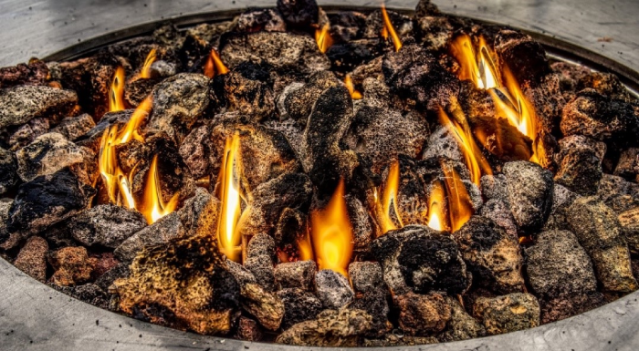 Lava Rock on fire