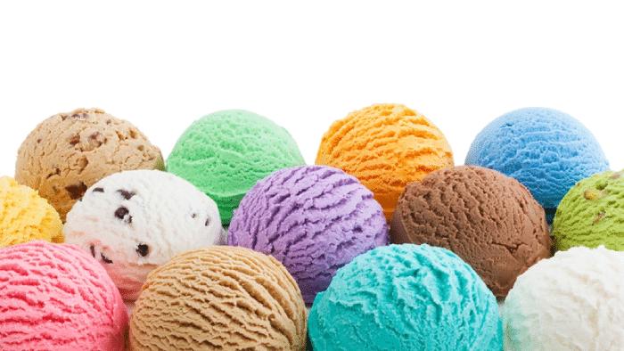 Multi colored icecream