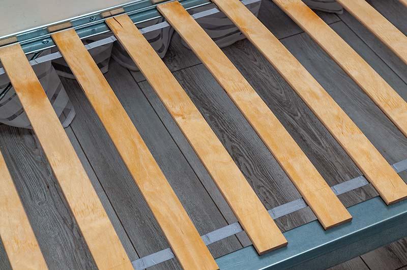 Wooden bed slats