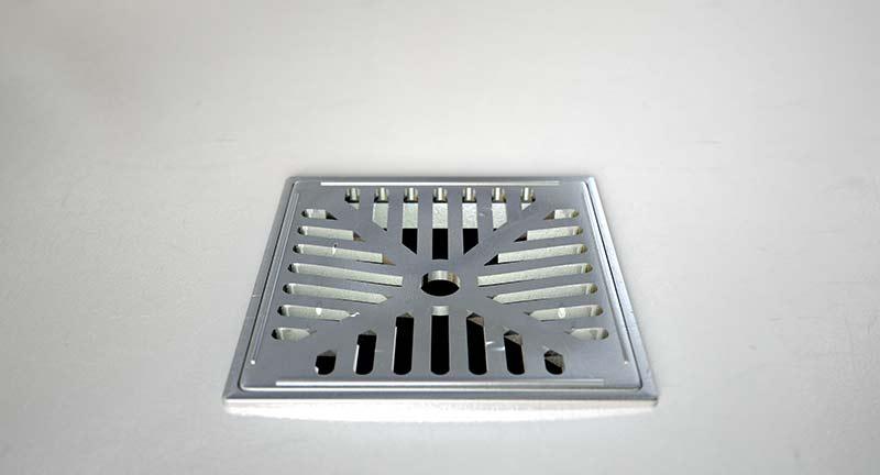 chrome shower drain