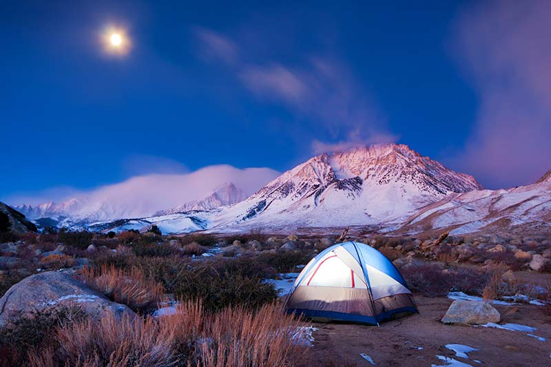 Tent in cold climate