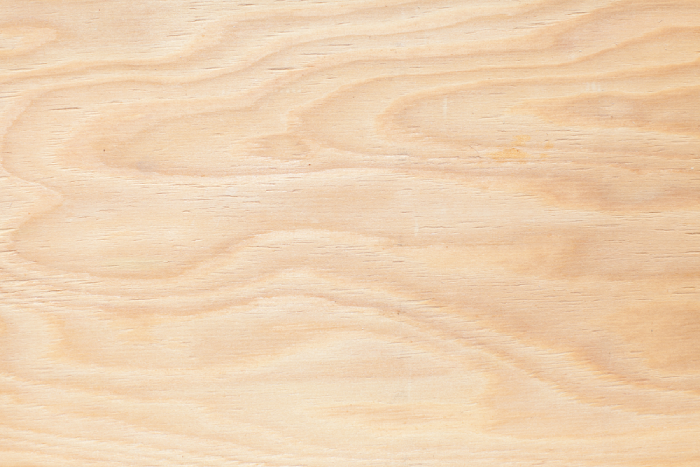 Plywood showing grain