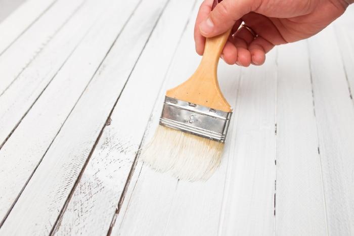 painting wood floor