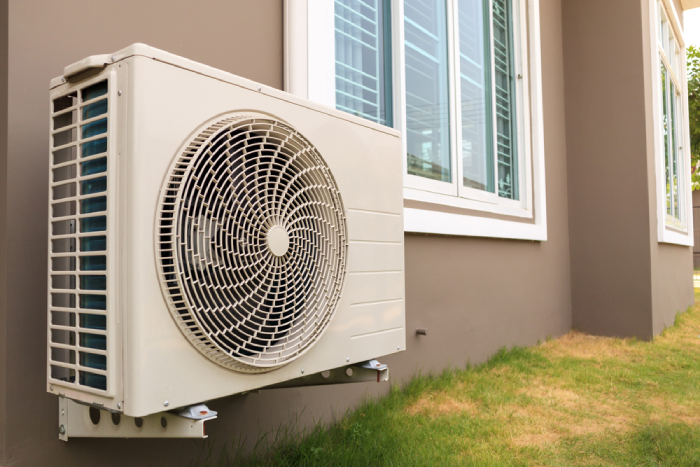 Air condition unit outside the house