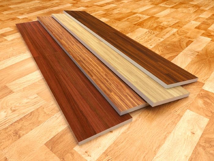 Pile of hardwood on floor